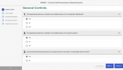 Tests and control self-assessments