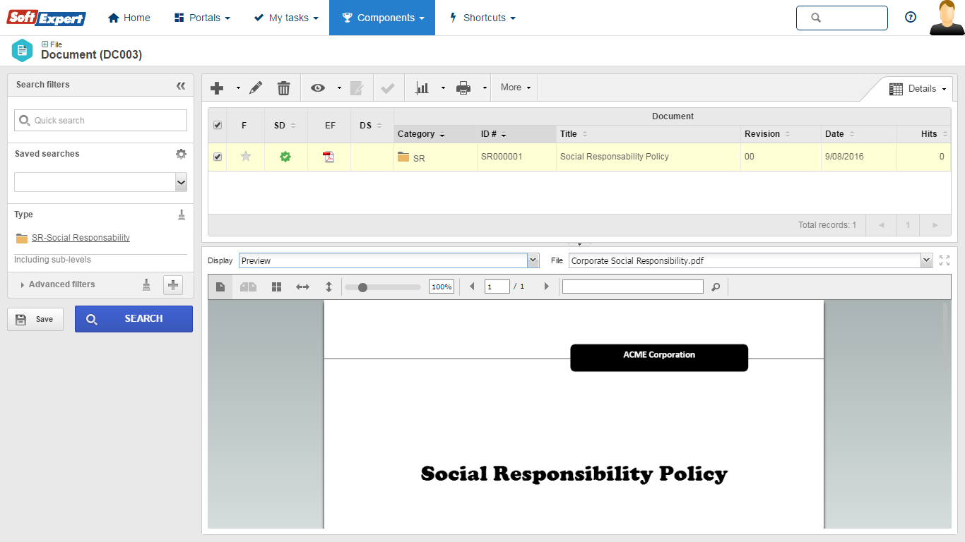 ISO 26000   SoftExpert Software