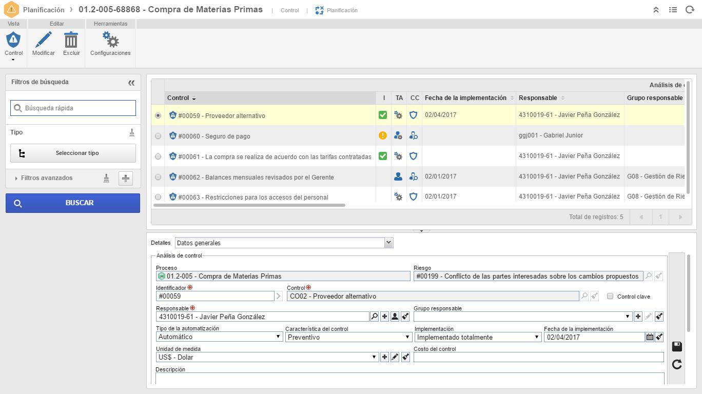 Software para Gestión de Riesgos y Controles | SoftExpert Riesgo