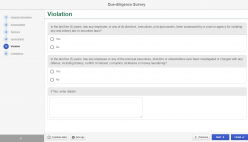 Due-diligence surveys