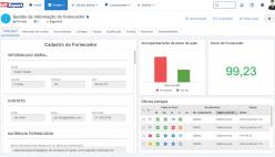 Portal de informações do fornecedor